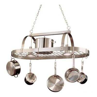 Kalco Hanging Pot Rack with 2 Light