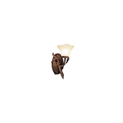 Kalco Ponderosa 1 Light Wall Sconce with Glass Shade