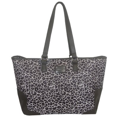Gray Leopard Laptop Tote