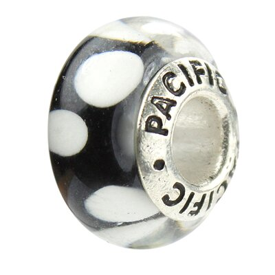 West Coast Jewelry Pacific 925 Murano Bubbles Glass Bead