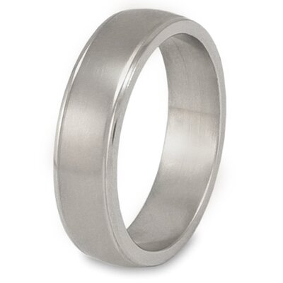Titanium Grooved Brushed and Polished Ring