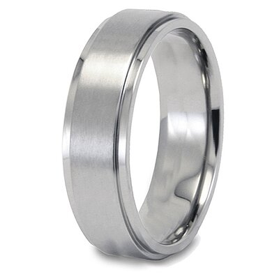 Titanium Brushed and Polished Ring