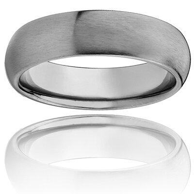 West Coast Jewelry Men's Titanium Domed and Brushed Comfort-fit Ring