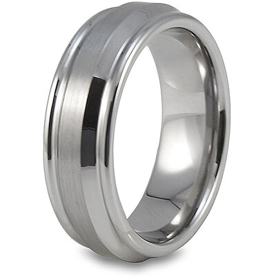 Tungsten Carbide Grooved Brushed Ring