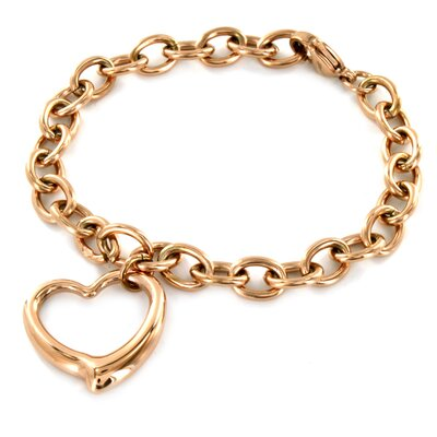 Heart Dangle Chain Bracelet