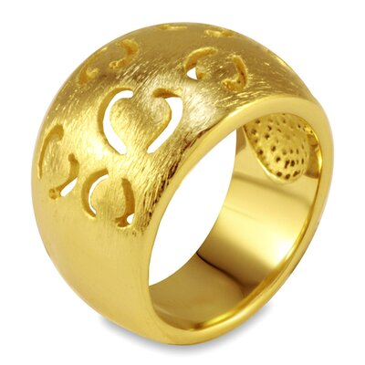 Goldplated Stainless Steel Cut-out Heart Ring