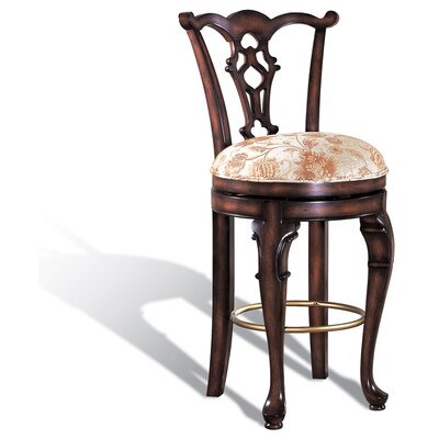 Legion Furniture Swivel Counter Stool in Dark Brown