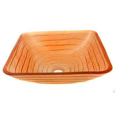 Sunny Days Square Vessel Bathroom Sink - ZA-86G