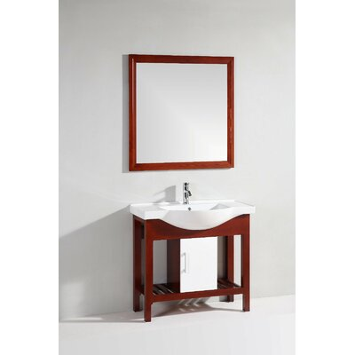 "Legion Furniture 36"" Single Bathroom Vanity Set with Mirror"