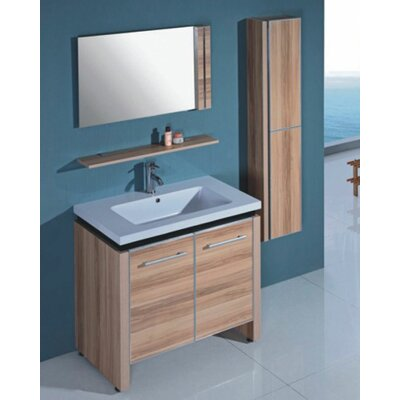 "Legion Furniture 31"" Single Bathroom Vanity Set with Mirror"