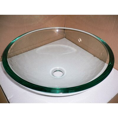 Legion Furniture Tempered Glass Vessel Bathroom Sink