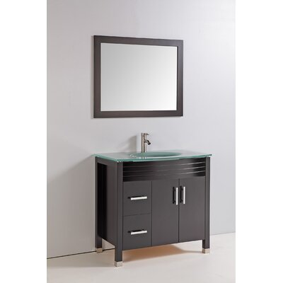 "36"" Solid Wood Bathroom Vanity Set"