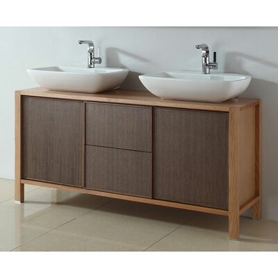"Legion Furniture 59.1"" Solid Wood Sink Bowl Vanity Set"