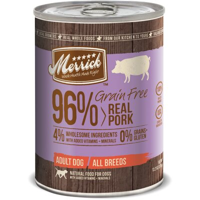 Merrick Pet Care Grain Free Real Pork Canned Dog Food (13.2-oz, case of 12)