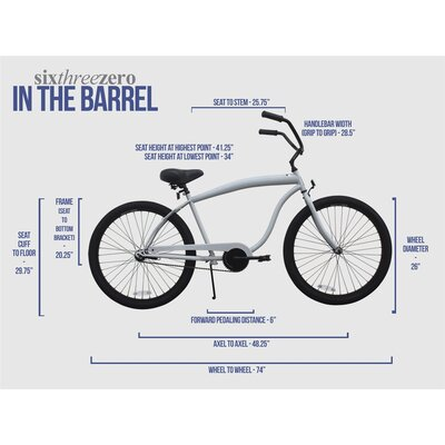 Sixthreezero Bikes Men's In The Barrel Cruiser