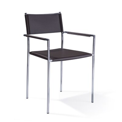 Aeon Furniture Bonded Leather Stackable Arm Chair