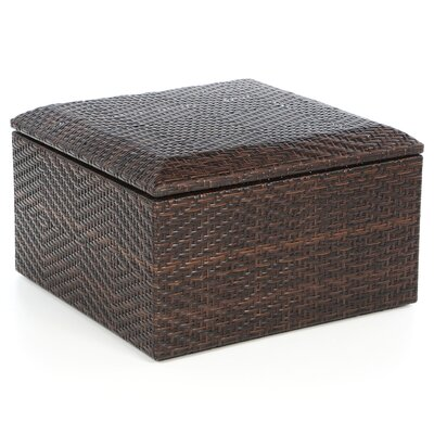 Home Loft Concept Brenner Indoor/Outdoor Wicker Storage Ottoman