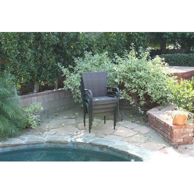Home Loft Concept Outdoor Wicker Bar Chair (Set of 4)