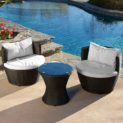 Home Loft Concept Cozenza 3 Piece Deep Seating Group