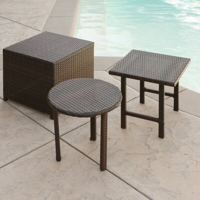 Home Loft Concept Palmilla Wicker Side Table Set