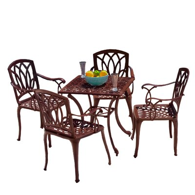 Home Loft Concept 5 Piece Outdoor Dining Set