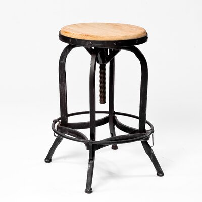 Home Loft Concept Weathered Oak Adjustable Bar Stool