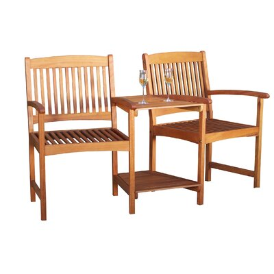 Home Loft Concept Eveley Acacia Adjoining Chairs Reviews