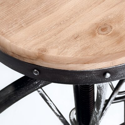 Home Loft Concept Michaelo Bicycle Wheel 27.5 Adjustable Bar Stool