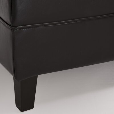 Home Loft Concept Cheshire Bonded Leather Bench Ottoman