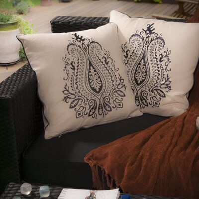 Home Loft Concept Embroidered Paisley Pillow (Set of 2)
