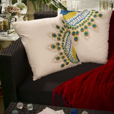 Home Loft Concept Peacock Tail Pillow (Set of 2)