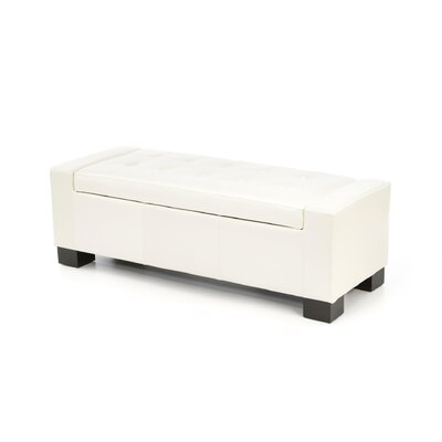 Home Loft Concept Guernsey Leather Storage Ottoman