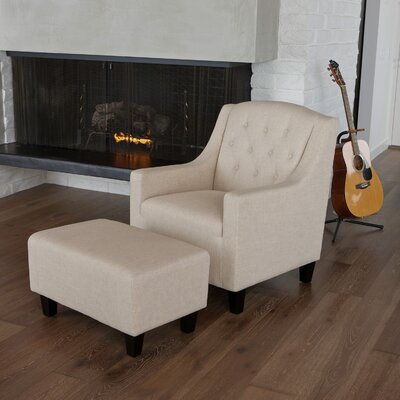 Home Loft Concept Elaine Tufted Club Chair and Ottoman