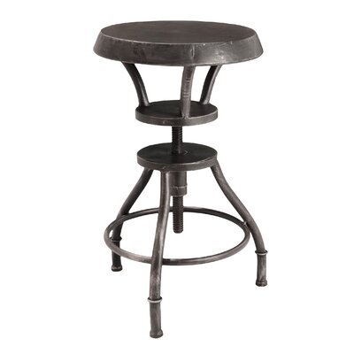 Home Loft Concept Lucian Iron Top Adjustable Barstool