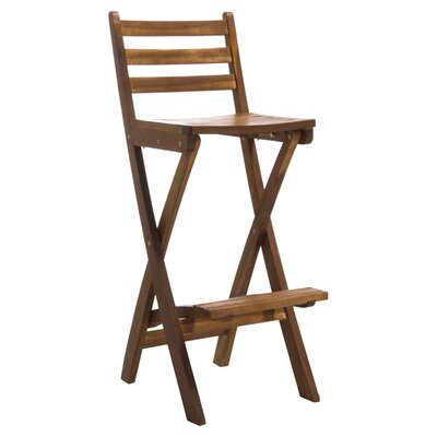 Home Loft Concept Tundra Foldable Outdoor Wood Barstool