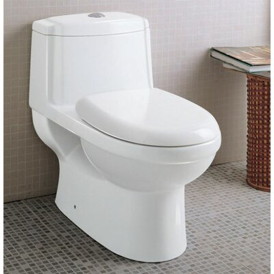 EAGO Ceramic Dual Function Elongated Toilet 1 Piece