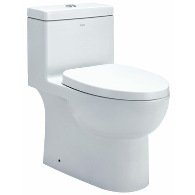 EAGO Dual Flush 0.8 GPF / 1.6 GPF Elongated 1 Piece Toilet