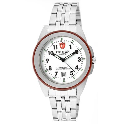 Croton Men's Military Round Watch