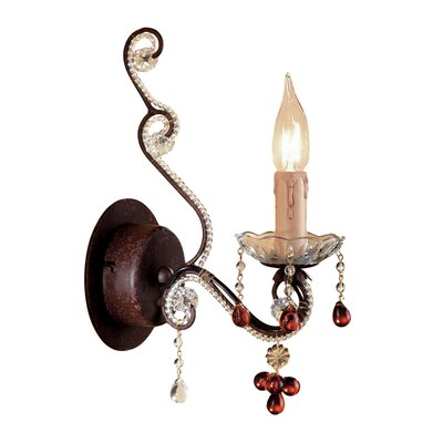 Crystorama Paris Flea Market 1 Light Candle Wall Sconce
