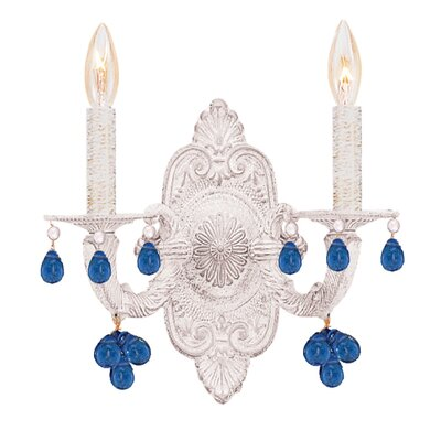 Crystorama Abbie 2 Light Candle Wall Sconce