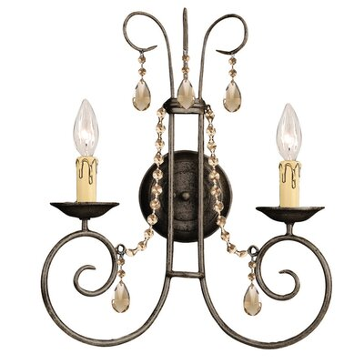 Crystorama Soho 2 Light Wall Sconce
