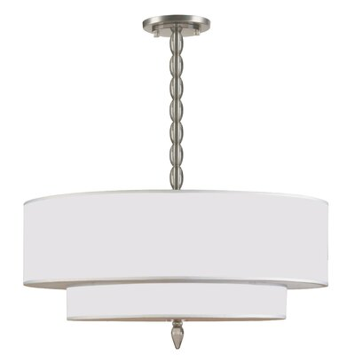 Crystorama Luxo Chandelier in Satin Nickel