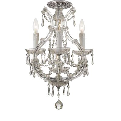 Crystorama Maria Theresa 3 Light Chandeliers