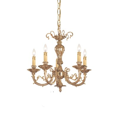 Olde World 5 Light Candle Chandelier