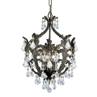 Traditional Classic Crystal Chandelier in English Bronze