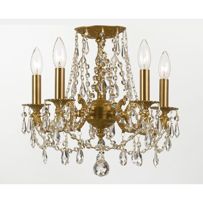Crystorama Mirabella 5 Light Chandelier with Swaroski Strass