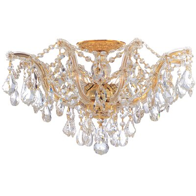 Crystorama Maria Theresa 5 Light Semi Flush Mount