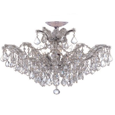 Crystorama Maria Theresa Six Light Swarovski Spectra Chandelier in Polished Chrome