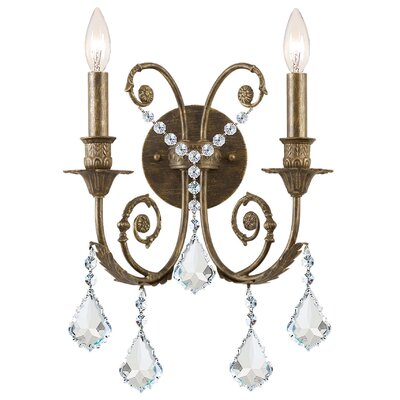 classic 2 light crystal candle wall sconce reviews wayfair