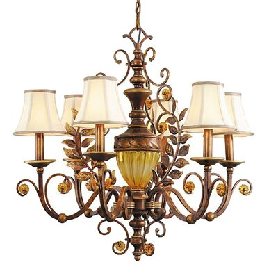 Crystorama Fashion Forward 6 Light Chandelier